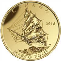 2016 $200 Pure Gold Coin - Tall Ships Legacy: Marco Polo