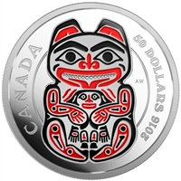 2016 $50 Fine Silver Coin - Mythical Realms of the Haida Series: The Bear