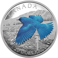 2016 $20 Fine Silver Coin - The Migratory Birds Convention: 100 Years of Protection The Mountain Bluebird