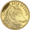 2016 25c Pure Gold Coin - Traditional Arctic Fox