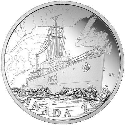 2016 $20 Fine Silver Coin - The Canadian Home Front: Patrol Against U-Boats