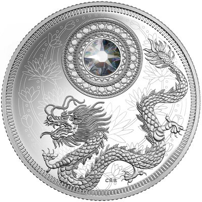 2016 $5 Fine Silver Coin - Birthstones: April