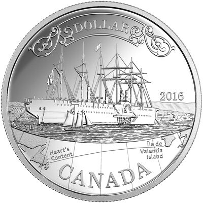 2016 Proof Silver Dollar - 150th Anniversary of the Transatlantic Cable