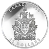 2016 $25 Fine Silver Piedfort - The Coat of Arms of Canada