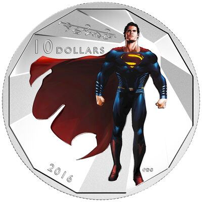 2016 $10 Fine Silver Coin - Batman v Superman: Dawn of Justice - Superman