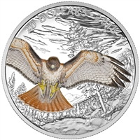 2016 $20 Majestic Animals II: Regal Red-Tailed Hawk - Pure Silver Coin