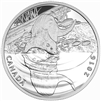2016 $10 Fine Silver Coin - Reflections of Wildlife: Otter