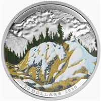 2016 $20 Fine Silver Coin - Landscape Illusion: Mountain Goat