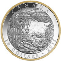 2015 $20 Spring Ice (1916): Tom Thomson - Pure Silver Coin