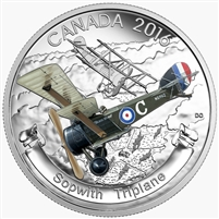2016 $20 Fine Silver Coin - Aircraft of the First World War Series: The Sopwith Triplane