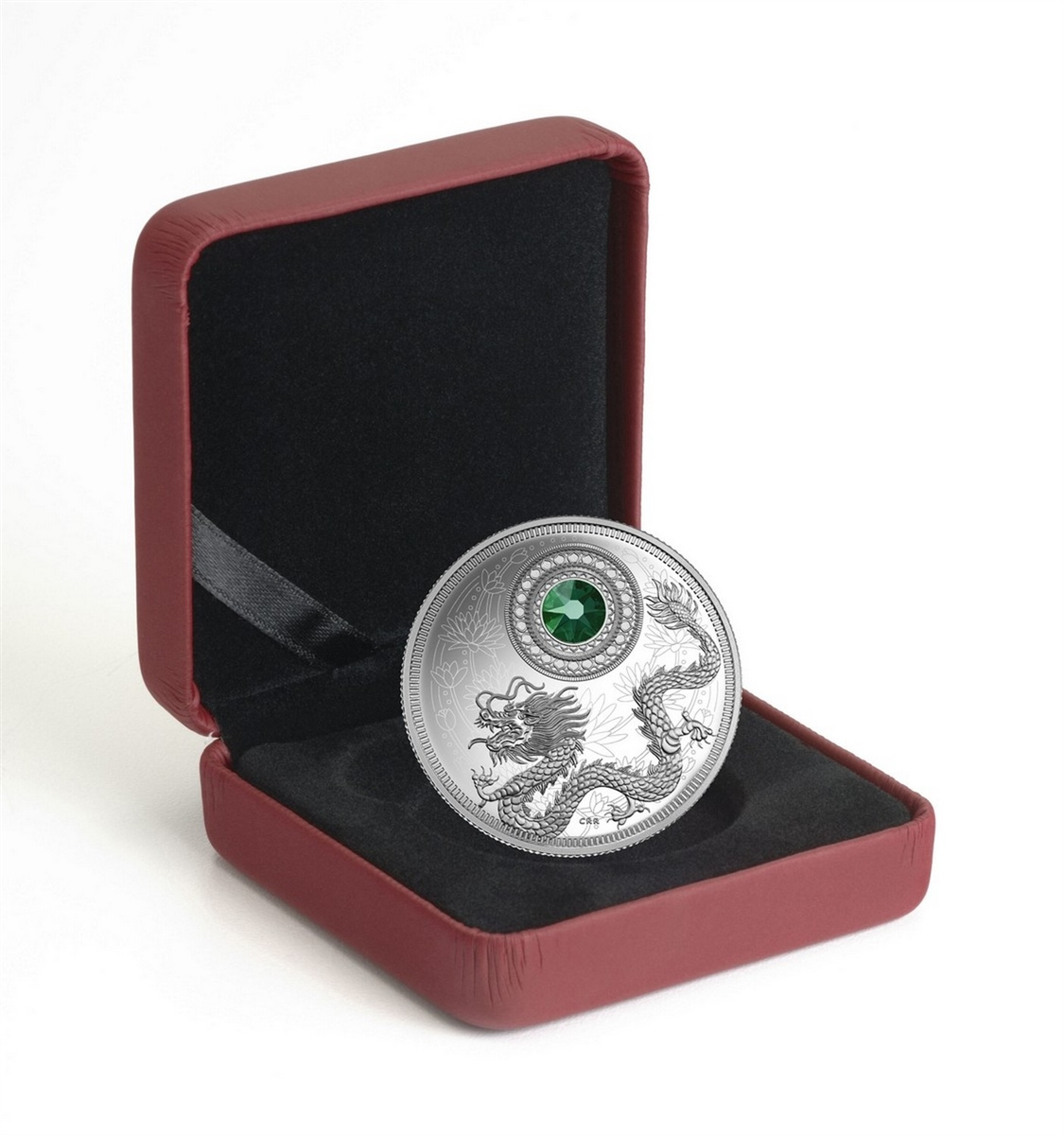 Pure Silver Coin made with Swarovski® crystal 150722 2016 Birthstones May