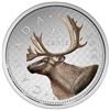 2016 25c Fine Silver Coin - Coloured Big Coin Series - Caribou