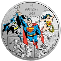 2016 $20 Fine Silver Coin - DC Comics Originals: The Trinity