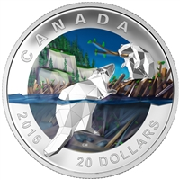 2016 $20 Fine Silver Coin - Geometry in Art: Beaver