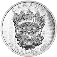 2016 $25 Fine Silver Coin - Sculptural Art of Parliament: Grotesque Wild Green Man