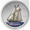 2016 10c Fine Silver Coin - Coloured Big Coin Series - Bluenose