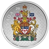 2016 50c Fine Silver Coin - Coloured Big Coin Series - Coat of Arms