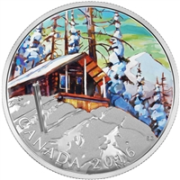 2016 $20 Fine Silver Coin - Canadian Landscape Series - Ski Chalet