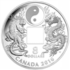 2016 $8 Fine Silver Coin - Tiger and Dragon Yin and Yang