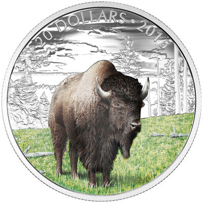 2016 $20 Fine Silver Coin - The Benevolent Bison