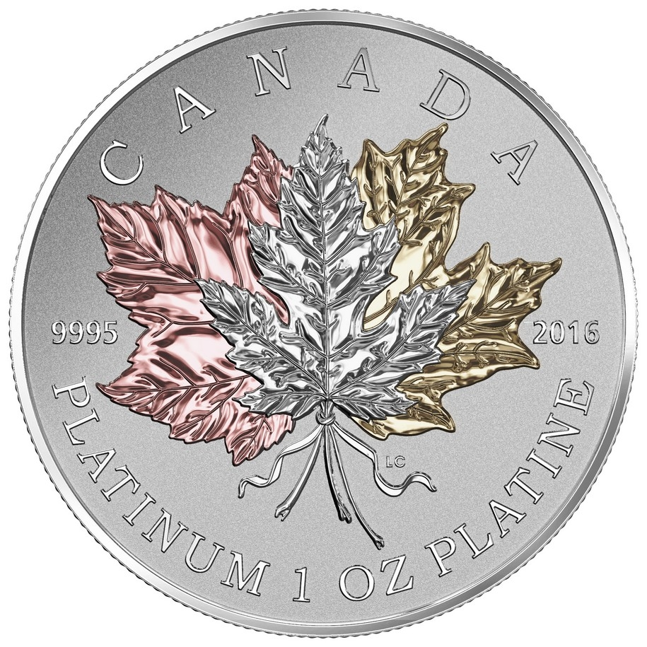 2016 300 Pure Platinum Coin Maple Leaf Forever