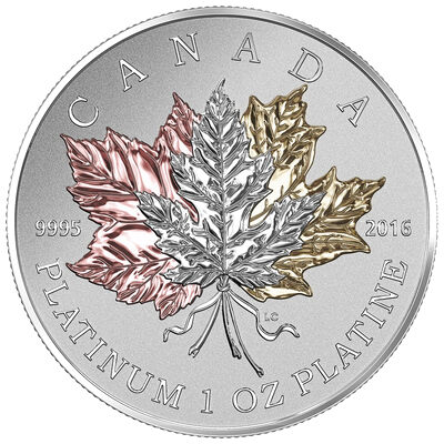 2016 $300 Pure Platinum Coin - Maple Leaf Forever