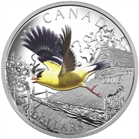 2016 $20 Fine Silver Coin - The Migratory Birds Convention: 100 Years of Protection The American Goldfinch