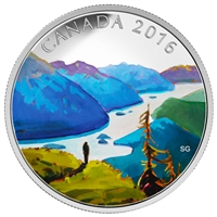 2016 $20 Fine Silver Coin - Canadian Landscape Series - Reaching the Top