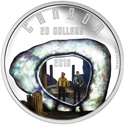 2016 $20 Fine Silver Coin - Star Trek: The City on the Edge of Forever