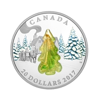 2017 $20 Snow-Covered Trees - Pure Silver Coin