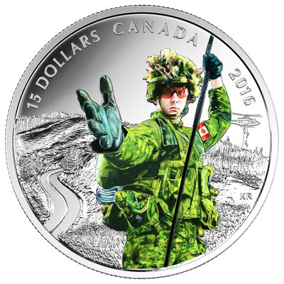 2016 $15 Fine Silver Coin - National Heroes: Military