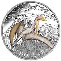 2016 $10 Fine Silver Coin - Day of the Dinosaurs: Terror of the Sky