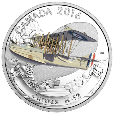 2016 $20 Fine Silver Coin - Aircraft of the First World War Series: Curtiss H-12