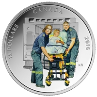 2016 $15 Fine Silver Coin - National Heroes: Paramedics