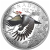 2016 $20 The Pileated Woodpecker - The Migratory Birds Convention: 100 Years of Protection - Pure Silver Coin