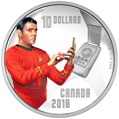 2016 $10 Fine Silver Coin - Star Trek: Scotty