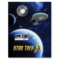 2016 25c Star Trek Enterprise Coin and Stamp Set