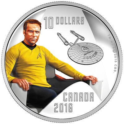 2016 $10 Fine Silver Coin - Star Trek: Captain Kirk