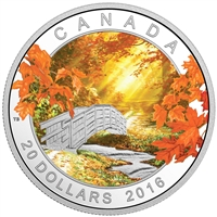 2016 $20 Autumn Tranquility - Pure Silver Coin