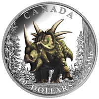 2016 $10 Fine Silver Coin - Day of the Dinosaurs: The Spiked Lizard