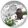 2016 $20 Baby Animals: Woodchuck - Pure Silver Coin