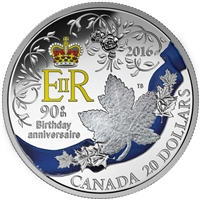 2016 $20 Fine Silver Coin - A Celebration of Her Majesty's 90th Birthday