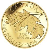 2016 $500 Pure Gold Coin - Maple Leaves
