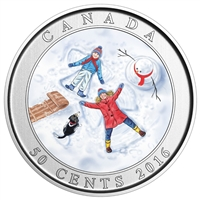 2016 50c Snow Angels - Lenticular Coin