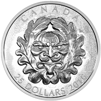 2016 $25 Fine Silver Coin - Sculptural Art of Parliament: Grotesque Horned Green Man