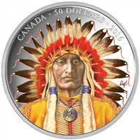 2016 $50 Fine Silver Coin - Wanduta: Portrait of a Chief