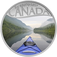 2017 $10 Fine Silver Coin - Celebrating Canada's 150th: Kayaking on the River (Quebec)