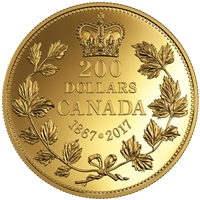 2017 $200 Pure Gold Coin - 150 Years fo Passion: The Maple Leaf
