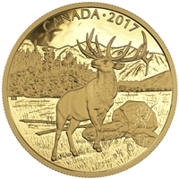 2017 $350 The Majestic Elk - Pure Gold Coin