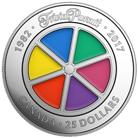 2017 $25 Trivial Pursuit, 35th Anniversary - Pure Silver Coin